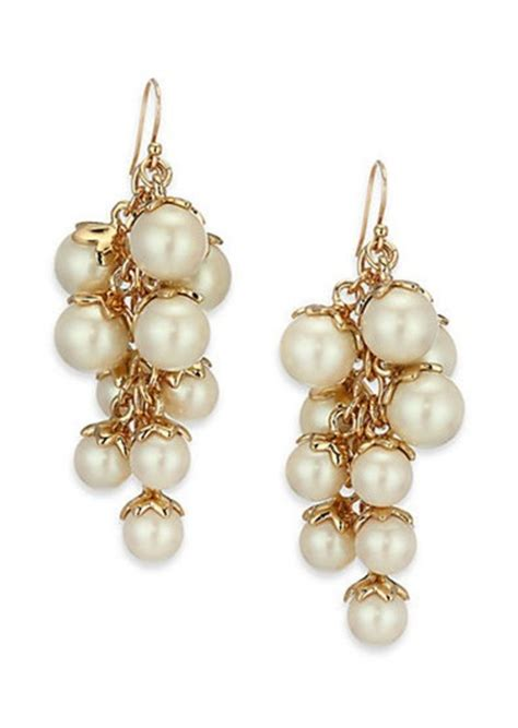 kate spade kate spade new york petaled faux pearl