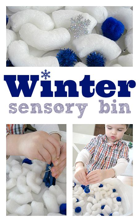 winter crafts and activities for preschoolers no time 743 | winter sensory bin for preschool