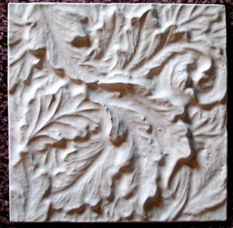 mold plaster mold acanthus leaves tile plaster mold