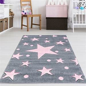 Teppich Kinderzimmer Rosa : kinderzimmer teppich sterne grau rosa teppich4kids ~ Yasmunasinghe.com Haus und Dekorationen