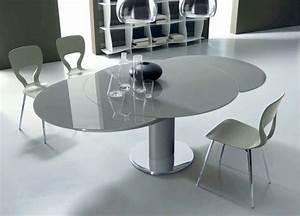 Tavolo rotondo allungabile per la sala da pranzo Tavoli Tavolo rotondo allungabile: tavoli
