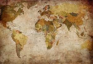 Old Style World Map Wallpaper Wall Mural