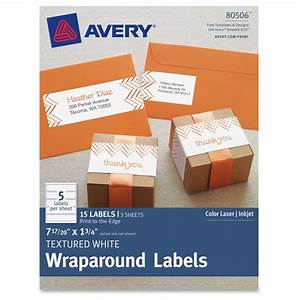 avery textured white print to the edge wraparound address With avery wraparound address labels