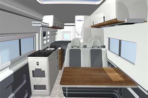 Cad Rendering Of The Interior Of The Westfalia Columbus, A
