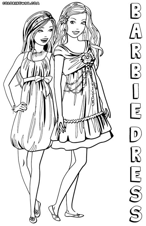 barbie dress coloring pages coloring pages    print