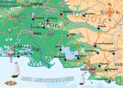 carte des bouches du rhône provence web