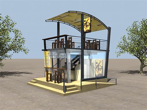 Outdoor Coffee Kiosk On Behance