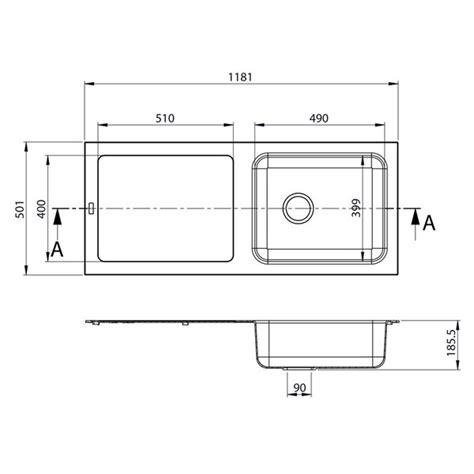 evier de cuisine en resine 1 bac evier de cuisine reversible à encaster 1 cuve en résine minérale composite gris beton avec