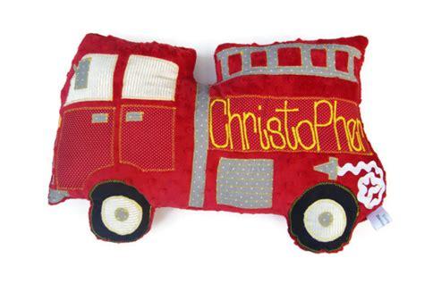 Firetruck Pillow Fire Truck Personalized Custom Truck Plush