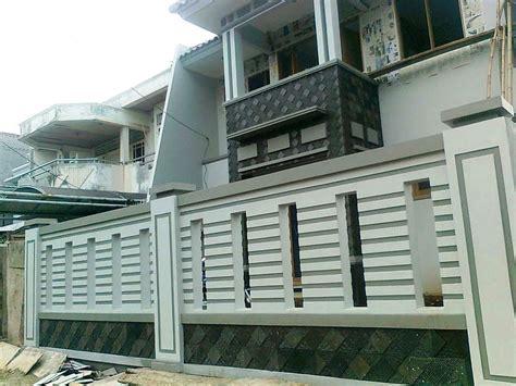 Anda memutuskan pintu pagar besi minimalis sebagai pilihan eksterior rumah? Gambar Foto Pagar Batu Bata Minimalis - Content