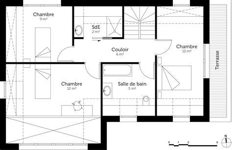 plan maison 4 chambres etage plan maison 100 m avec 4 chambres ooreka