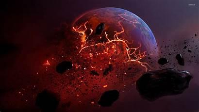 Planet Space Exploding Wallpapers Explosion Explode Desktop
