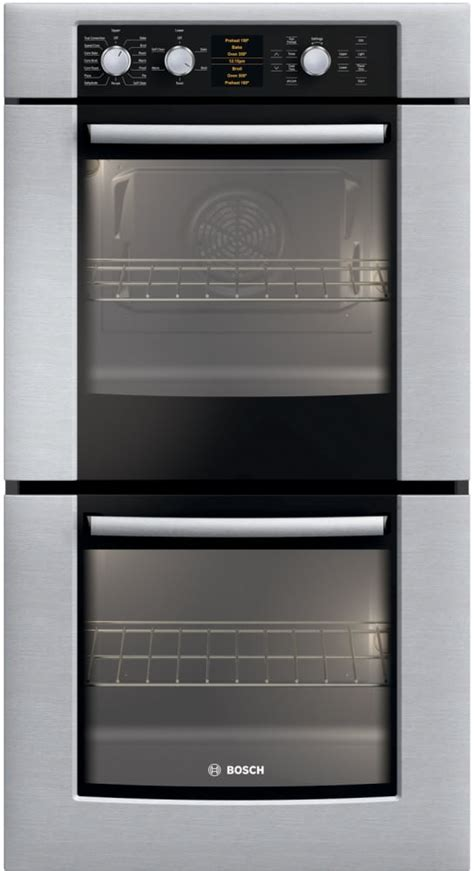 bosch hbnuc   double electric wall oven  genuine european convection  upper oven