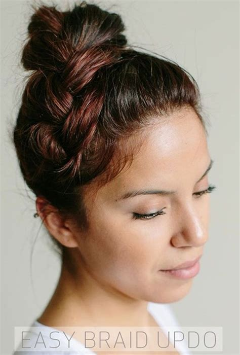 simple and easy braided updos hairstyles popular haircuts