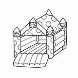 Bouncy Castle Drawing Getdrawings sketch template