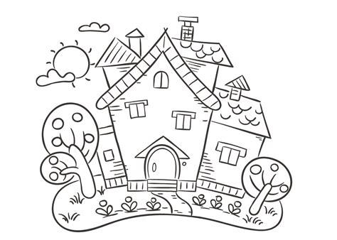 Huizen Kleurplaat by Kleurplaat Huis Kersthuis Spookhuis En Huizen Kleurplaten