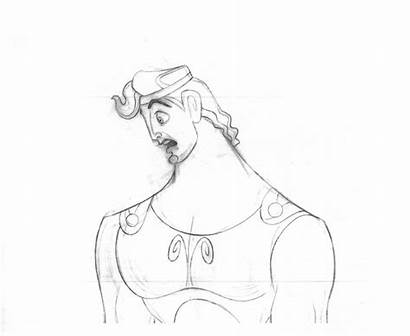 Animation Drawings Hunchback Hercules Waldman Bill Dame