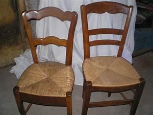 Chaise En Bois : echange 2 chaises en bois assises paille mobilier et ~ Melissatoandfro.com Idées de Décoration