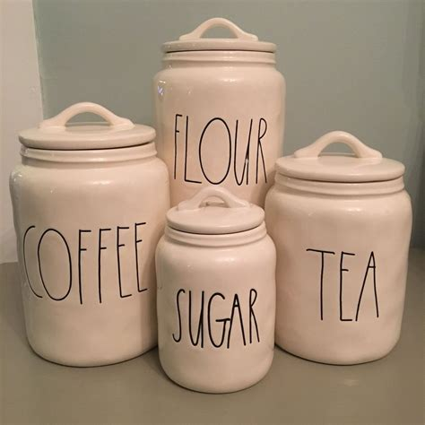 Coffee Kitchen Canisters by Details About Dunn Canister Sugar Tea Flour Coffee