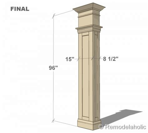 column style floor ls build a custom interior column with free plans from