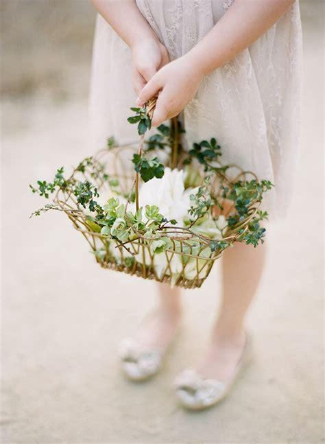 flower girl basket ideas  pinterest