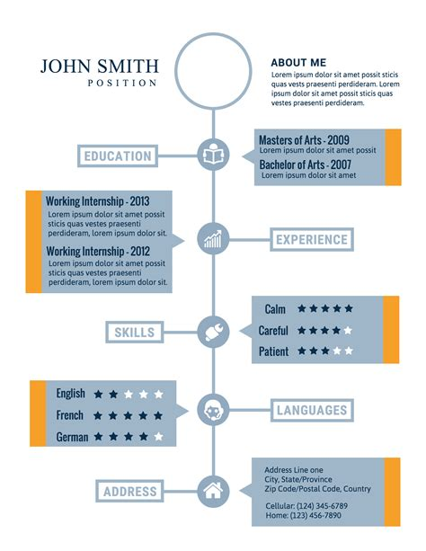 Infographic Resume Sles by How To Create A Polished Infographic Resume Infographic