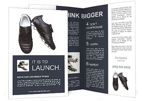 soccer shoes   white background brochure template