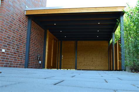 Carport Mit Abstellraum Und Led Beleuchtung In Oelde