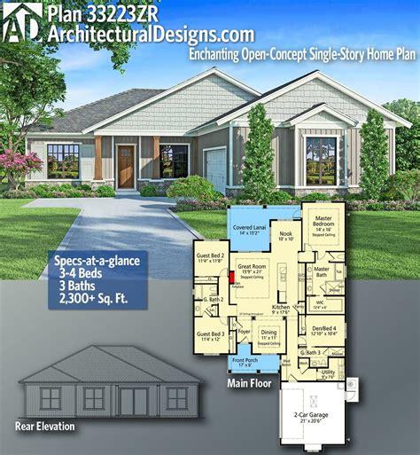 plan zr enchanting open concept single story home plan dream house plans house plans
