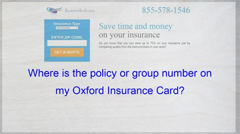 In an emergency, simply give your health card to your medical or hospital provider. Where is the policy or group number on my Oxford Insurance Card?   Cheap car insurance quotes ...