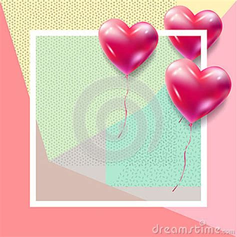 valentines day greeting card frame vector template