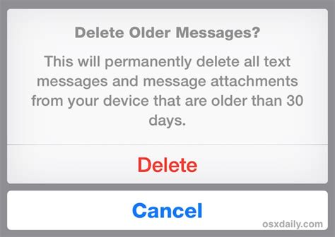 how to delete a message on iphone how to automatically delete messages from iphone in ios