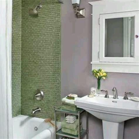 lavender walls  bathroom  sage tiles love