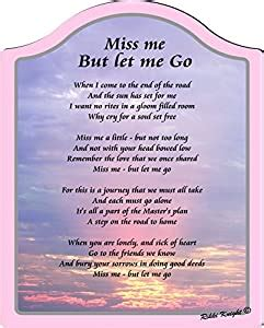 Amazon.com: Miss be But Let me Go (Bereavement) Touching