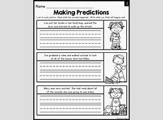 Making Predictions In Reading Worksheets Worksheets for