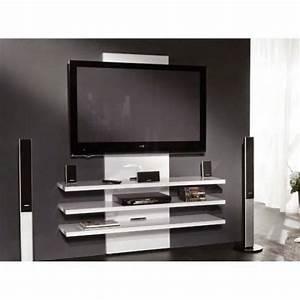 comment cacher les fils de la tv accrochee au mur With meuble pour cacher tv