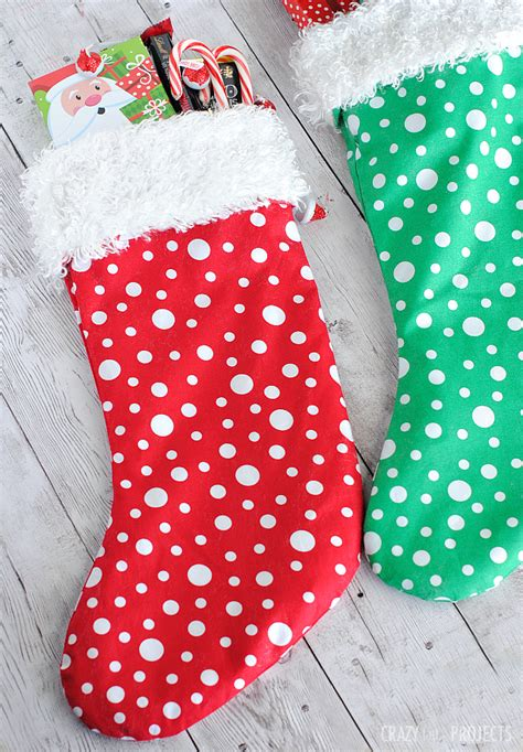 easy christmas stocking pattern crazy  projects