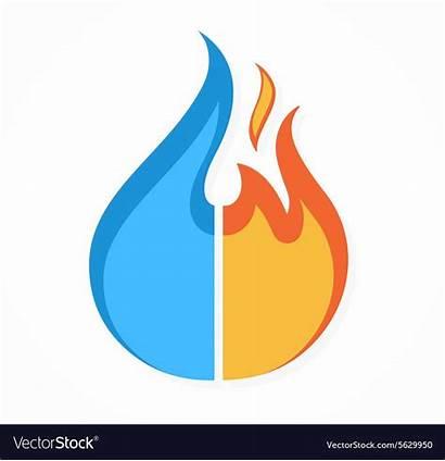 Fire Water Restoration Icon Drop Symbol Cln