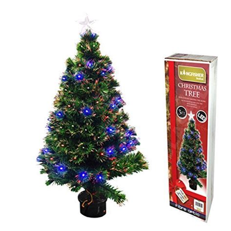 90cm 3ft fibre optic christmas tree 88 tips best