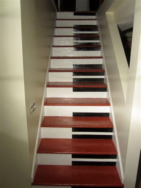 piano stairs modern basement minneapolis