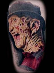 34 3d Portrait Tattoo Of Freddy Krueger - Golfian.com