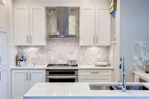 it large scale tile backsplash