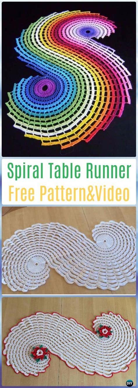 crochet table runner  patterns tutorials