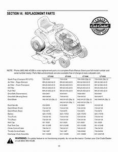 Page 34 Of Cub Cadet Lawn Mower Lt1042 User Guide