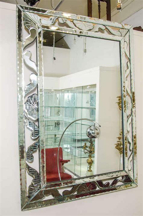 midcentury large decorative venetian wall mirror  stdibs