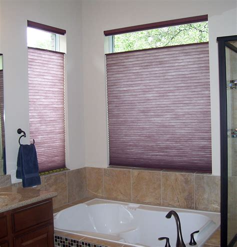 Blinds And Window Coverings by After Photo Of Bathroom With Honeycomb Shades Great For