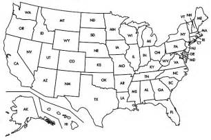 Blank US Map with State Outlines
