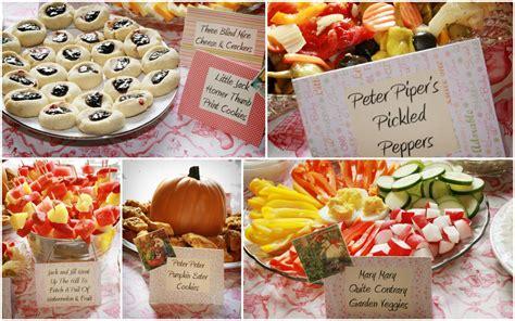 baby shower food menu nursery rhyme baby shower bebehblog