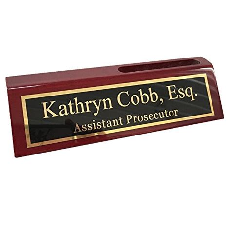 custom desk name plate card holder personalized business desk name plate with card holder