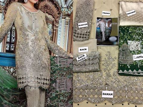 designer embroidered net dress  design price